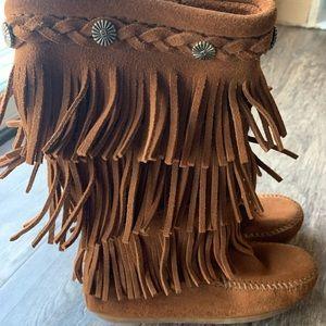 Minnetonka moccasins Boots (Children's size 12)